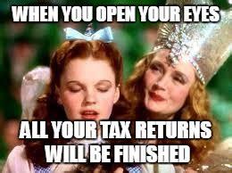 Tax Return Meme - wizard of oz imgflip