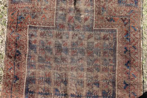 Bad Rug by Small Antique Timuri Rug Bad Condition Ok Colours
