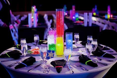 glow centerpiece party ideas pinterest