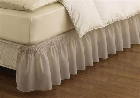 bed skirts queen easyfit wrap around solid ruffled bed skirt queen king