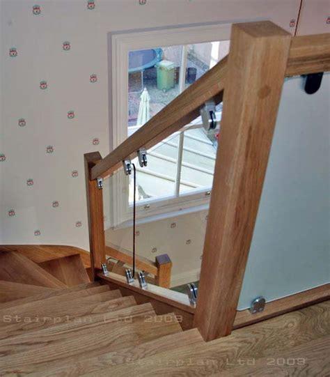 glass balustrading oak handrail with glass toughened glass