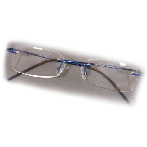 4 diopter eschenbach rimless reading glasses blue rectangle