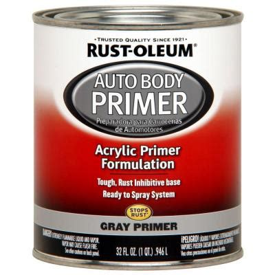 home depot paint no primer rust oleum automotive 1 qt gray auto low voc primer