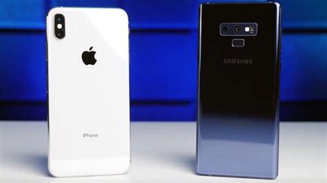 iphone xs max vs note9 qual destes smartphones tem a melhor bateria