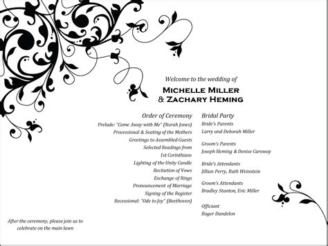Wedding Program Clipart by Wedding Program Clipart 69