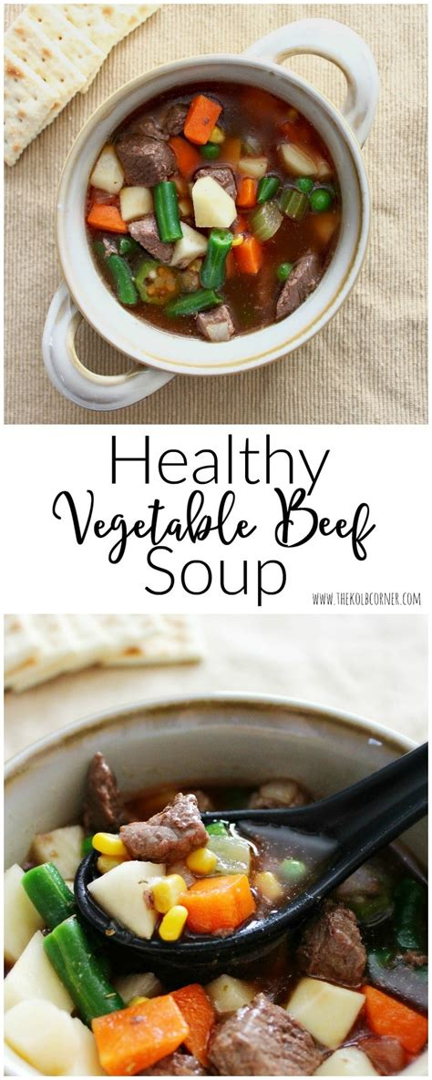Healthy Vegetable Beef Soup Domestically Creative Better Homes And Gardens Vegetable Beef Soup