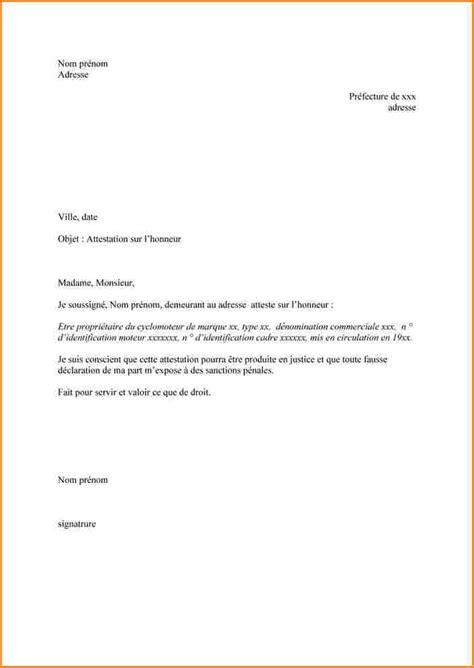 Modeles De Lettre Attestation Sur L Honneur 10 Attestation Sur Honneur Curriculum Vitae Etudiant