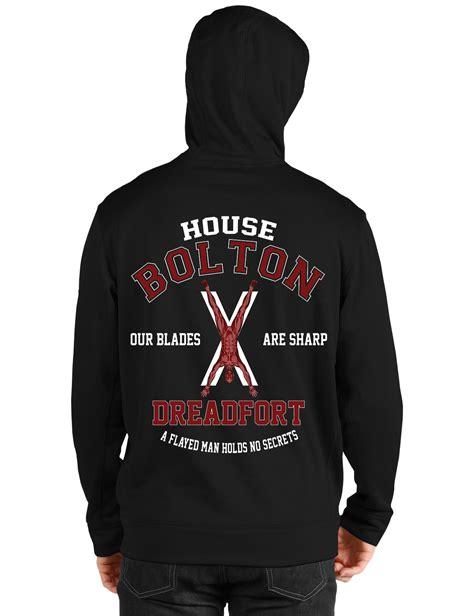Hoodie Of Thrones House Grey house bolton black hoodie swag shirts
