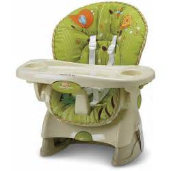 Fisher price space saver high chair and booster green meadows