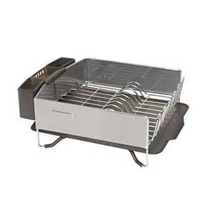kitchenaid stainless steel dish rack with drainboard ebay