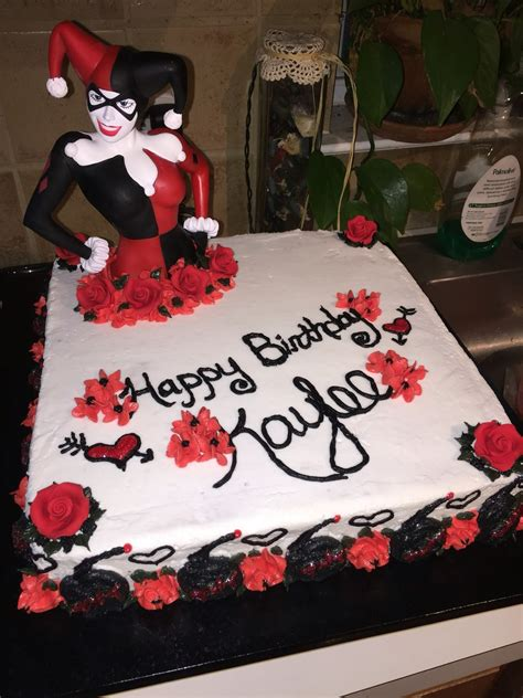 harley quinn themed birthday party harley quinn cake cake ideas pinterest harley quinn