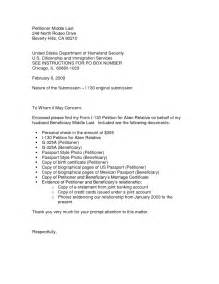 cover letter for uscis sle cover letter for i 130 petition cover letter