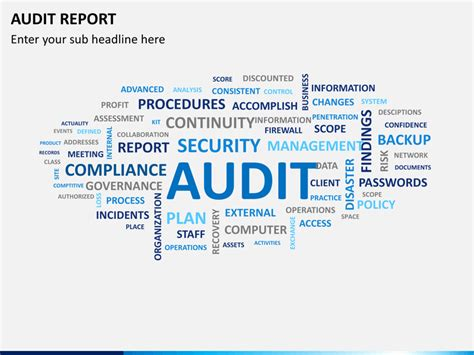 audit theme ppt free download audit report powerpoint template sketchbubble