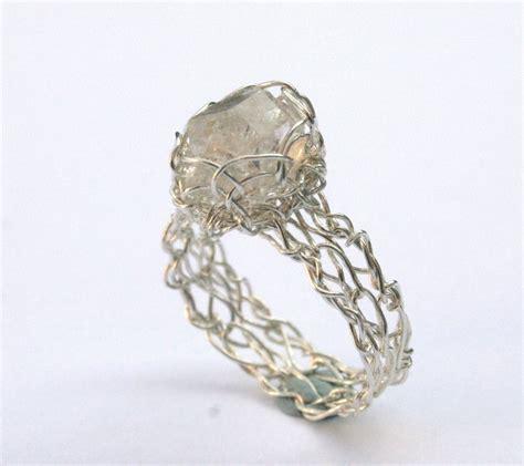 Antique Diamond Earrings: Trinity Knot Band Celtic Rings