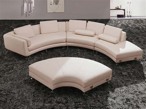 round sectionals modern round leather sectional sofa a94 leather sectionals