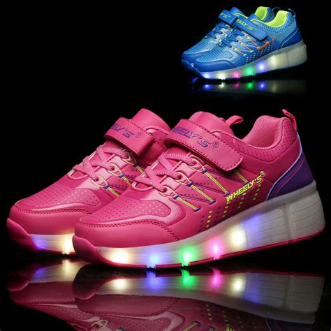 Sneakers With Lights by Sneakers Lights Shoes Led Lights Shoes With Wheels Button Outdoor Children S Sneakers