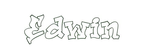 coloring page first name edwin