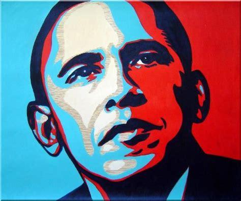 Pop Portrait Artists Framed President Barack Obama Painting Portraits
