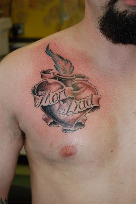 small heart tattoo on breast for coolmenstattoo