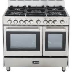 Verona vefsgg365dss 36 inch double oven gas range stainless steel