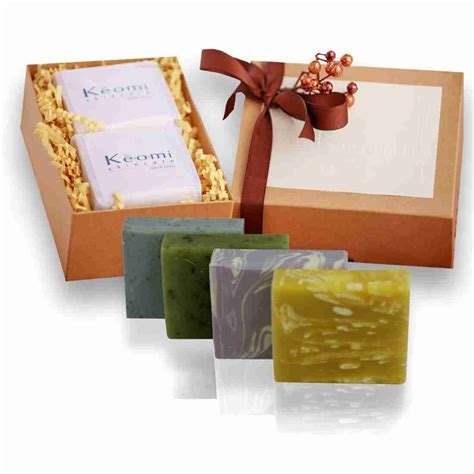 Soap And Gift Set - organic handmade soap gift set 4 size bars keomi