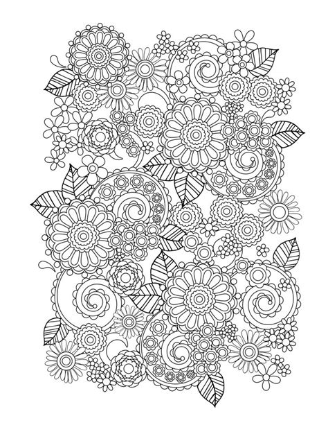 Flower Coloring Pages for Adults - Best Coloring Pages For