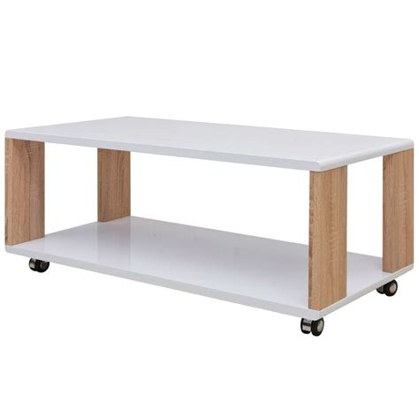 white gloss coffee table vidaxl high gloss coffee table white vidaxl co uk