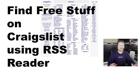 How To Get Free Furniture by Find Free Stuff On Craigslist Using Vienna Rss Reader