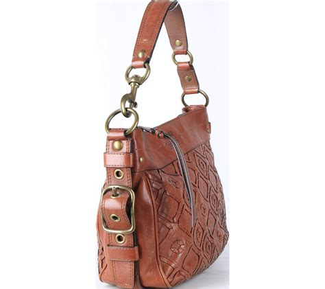Tas Coach Button Set 3 In 1 Brown Series Jj 3228 A coach brown shoulder bag