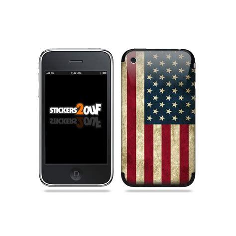 Hp Iphone S4 skin drapeau usa skin iphone 3g et 3gs apple