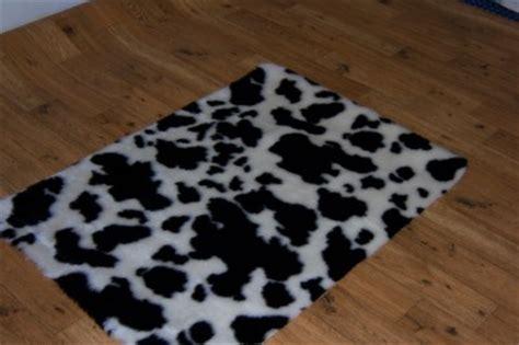 animal print cow skin fur faux rug 70 x 100 cm ebay