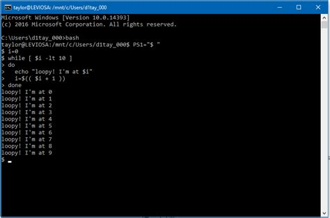 install windows 10 command line how to install bash on windows 10 ask dave taylor