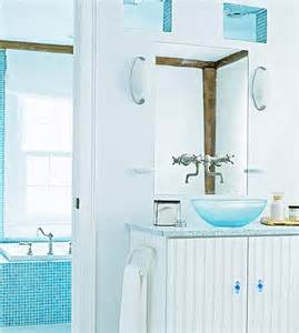 Cream Bathroom Mirror From Navy To Aqua Summer Decor In Shades Of Blue
