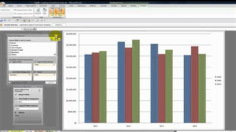 pivot table and pivot chart how to create a pivot chart in excel 2010 step by step
