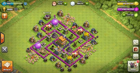 layout kuat coc th 6 design thropy base clash of clans th 6 design base clash