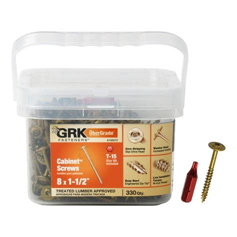 grk fasteners 8 x 1 1 2 in low profile washer