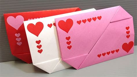 Valentine Gifts Cards - origami valentine s day gift card envelopes print at home youtube