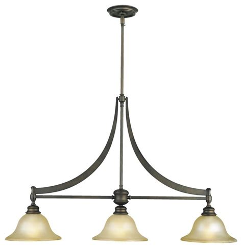 murray feiss pub 3 light island light rubbed bronze