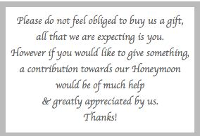 Wording For Gift Cards Instead Of Gifts - thank you wording for wedding gift money imbusy for