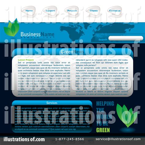royalty free website templates website template clipart 71433 illustration by