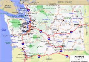 Wa State Map by Map Washington State Images