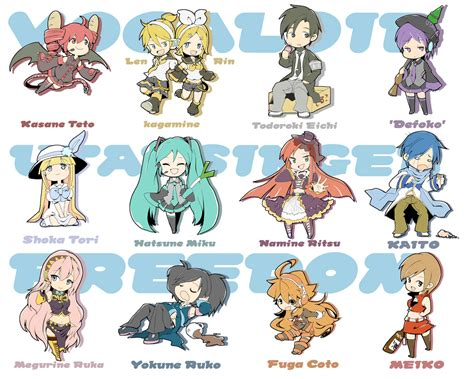S Anime Names by Anime Vocaloid Characters Names Www Pixshark