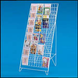 60 pocket greeting card rack stand holds 5 1 2w x 8h greeting cards