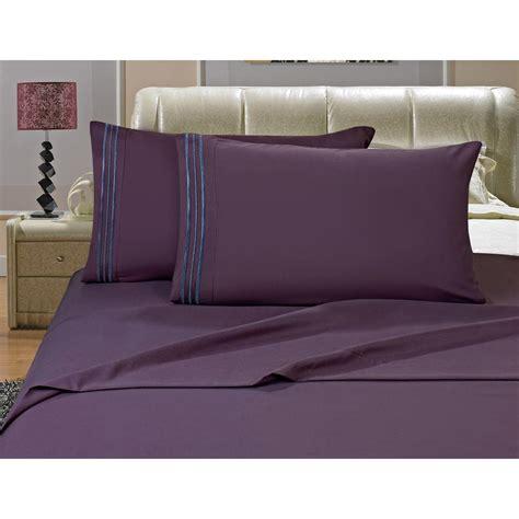 comfortable bed sheets elegant comfort 1500 series 4 piece purple triple marrow