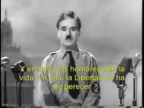 charlie y el gran discurso humanista chaplin en el gran dictador flv youtube