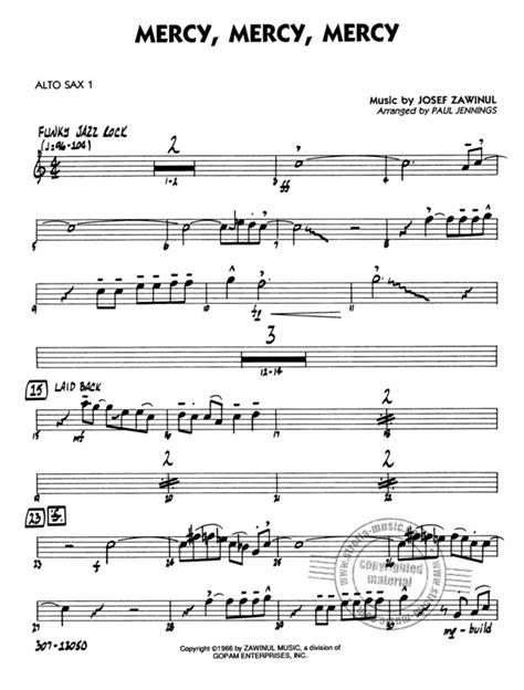 Mercy Mercy Mercy von Zawinul Josef | im Stretta Noten