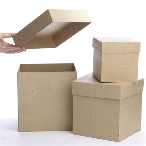 Craft Paper Boxes - square paper mache boxes paper mache basic craft