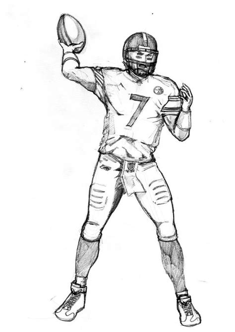 football guy coloring page how to draw football players football player coloring