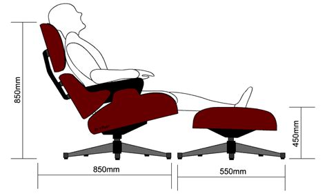 Eames Lounge Chair Measurements by The Eames Chair And Ottoman Ergonomics And Anthropometrics