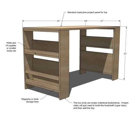 Desk Diy Plans Comfortable Diy Storage Leg Desk For Kidsomania